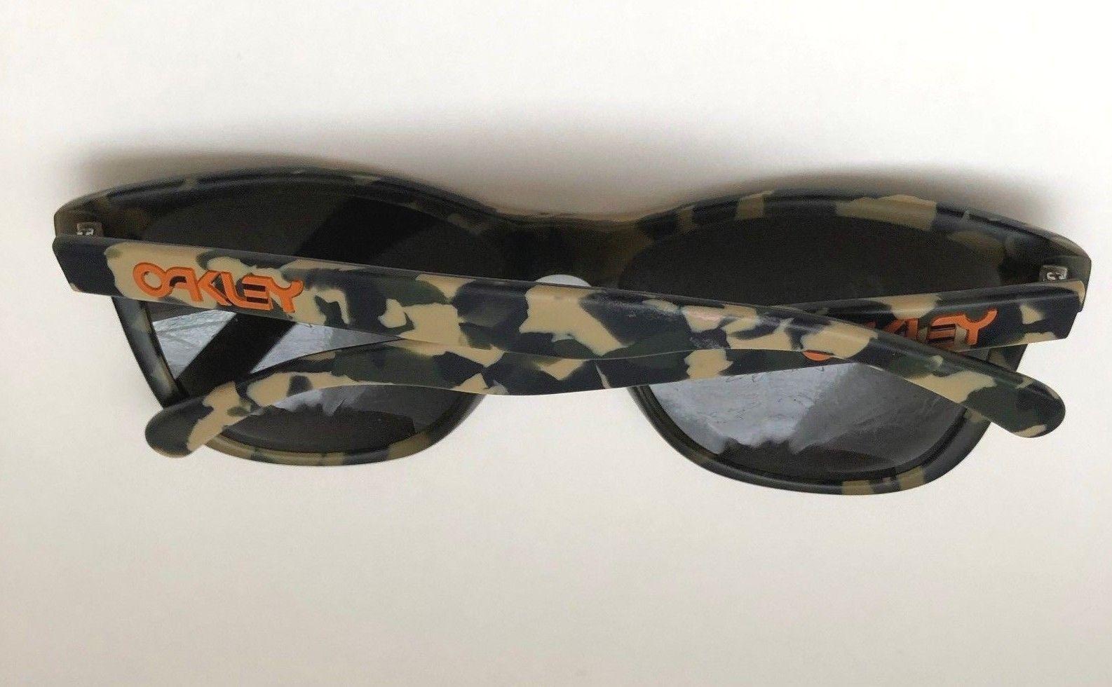 1162c502422 ... Oakley Frogskins LX Koston Matte Camo Green Dark Grey Sunglasses  Authentic Used ...