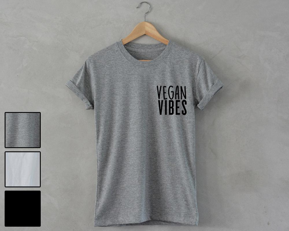 VEGAN VIBES T-Shirt unisex healthy food vegetarian no meat tumblr fashion pocket