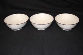 """Set of 3 Simplicity FRANCISCAN Porcelain PLATINUM Oval Serving Bowls 8"""" - $69.99"""