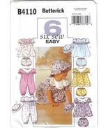 Butterick Pattern B4110 Infants' Dress Jumpsuit Hat More Sizes S, M, L & XL - $6.99