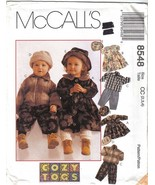 McCalls 8548 Childrens Jacket Dress Pants Hats Sizes: 2, 3 & 4 Uncut - $6.99