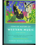 Concise History of Western Music - College Textbook - $34.95