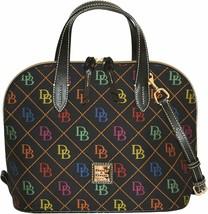 Dooney & Bourke Women's Quilted Signature Zip Zip Satchel, Black Multi, ... - $245.52