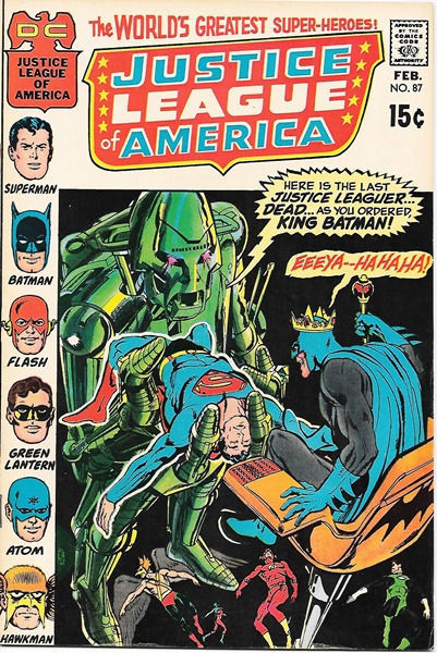 Primary image for Justice League of America Comic Book #87, DC Comics 1971 VERY FINE