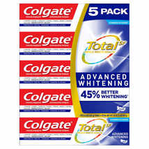 Colgate Total SF Stannous Flouride Advanced Whitening Toothpaste 5-pack ... - $9.99