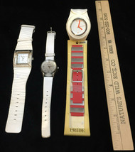 Wristwatch Rumours Kenneth Cole New York Slap Watch Wide Bands Repair Lot of 3 - $18.80
