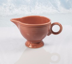 Genuine 1950's Rose Color Fiesta Ring Handled Creamer - $28.05