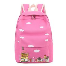 Samaz Lightweight Casual Canvas School Backpack for Girls Kids Book Bag  - $26.99