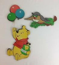 Walt Disney Vintage Winnie the Pooh w Balloons & Owl Cut-Out Wall Art - $14.77