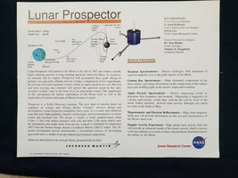 NASA Lockheed Martin Ames Research Center Lunar Prospector 1997 - $5.00