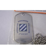 3rd INFANTRY DIVISION DOG TAG - OPERATION ENDURING FREEDOM NIP - $7.00