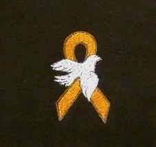 Leukemia Awareness Hoodie M Orange Ribbon White Dove Sweatshirt Unisex New - $32.31