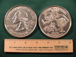 "Big 3"" Inch Metal Coin Replica of a 2000 Issue South Carolina State Quarter - $6.75"
