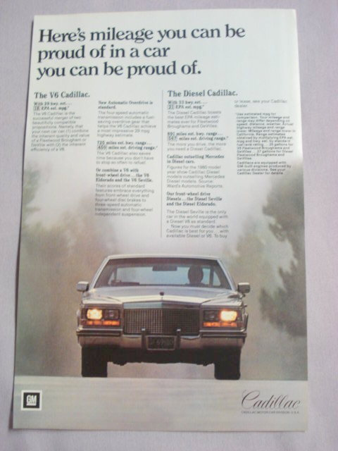 "1981 Ad Cadillac ""Here's Mileage You Can Be Proud Of"""