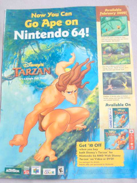 2001 Ad Video Game Disney's Tarzan by Activision