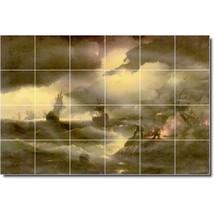 Ivan Aivazovsky Waterfront Painting Tile Murals BZ00036. Kitchen Backsplash Bath - $240.00+