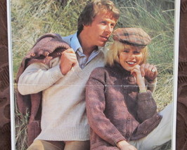 Vintage Patons KNITTING Patterns ADULTS V Neck Pullover SWEATER and CARDIGAN  - $4.95