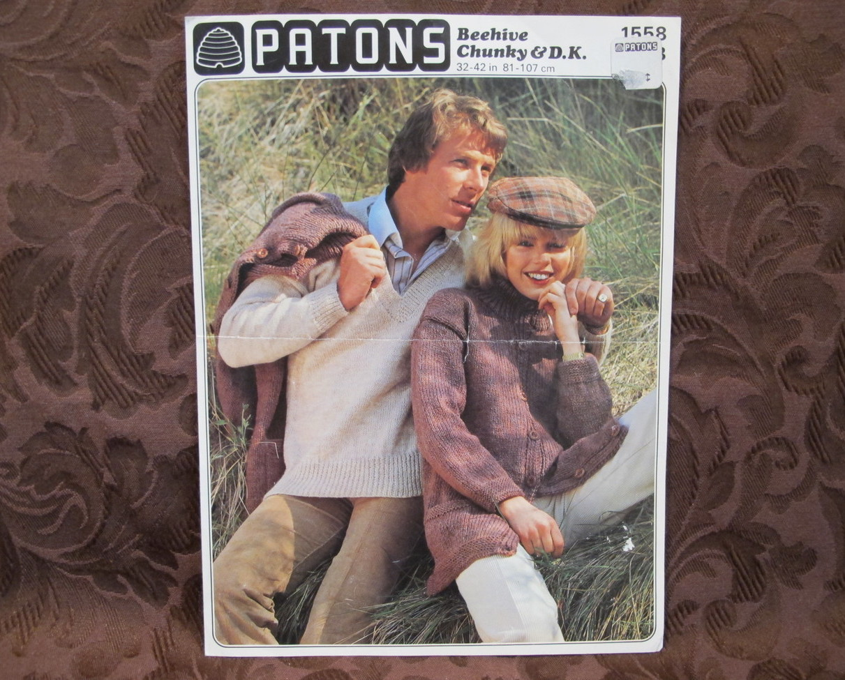 Vintage Patons KNITTING Patterns ADULTS V and 12 similar items