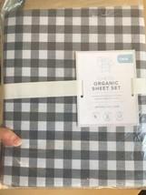 Pottery Barn Gingham Check Sheet Set Charcoal Gray Twin Farmhouse Black ... - $69.00