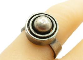 925 Sterling Silver - Vintage Round Modernist Designed Band Ring Sz 7 - ... - $28.01