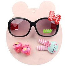 Children Hair Suit Sunglasses Bow-knot Style Hairpins and Hair Circle, Black