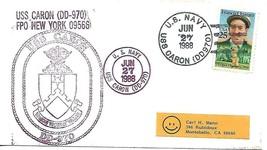 CARON (DD-970) 27 Jun 1988 Ships Cachet Locy Type 2-1(n) (USS) & 9-1(n+u... - $3.47