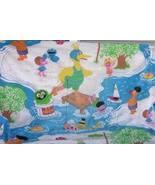 Sesame Street Muppets Twin Fitted Sheet Cutter Fabric Crafts Ernie Big Bird - $8.93
