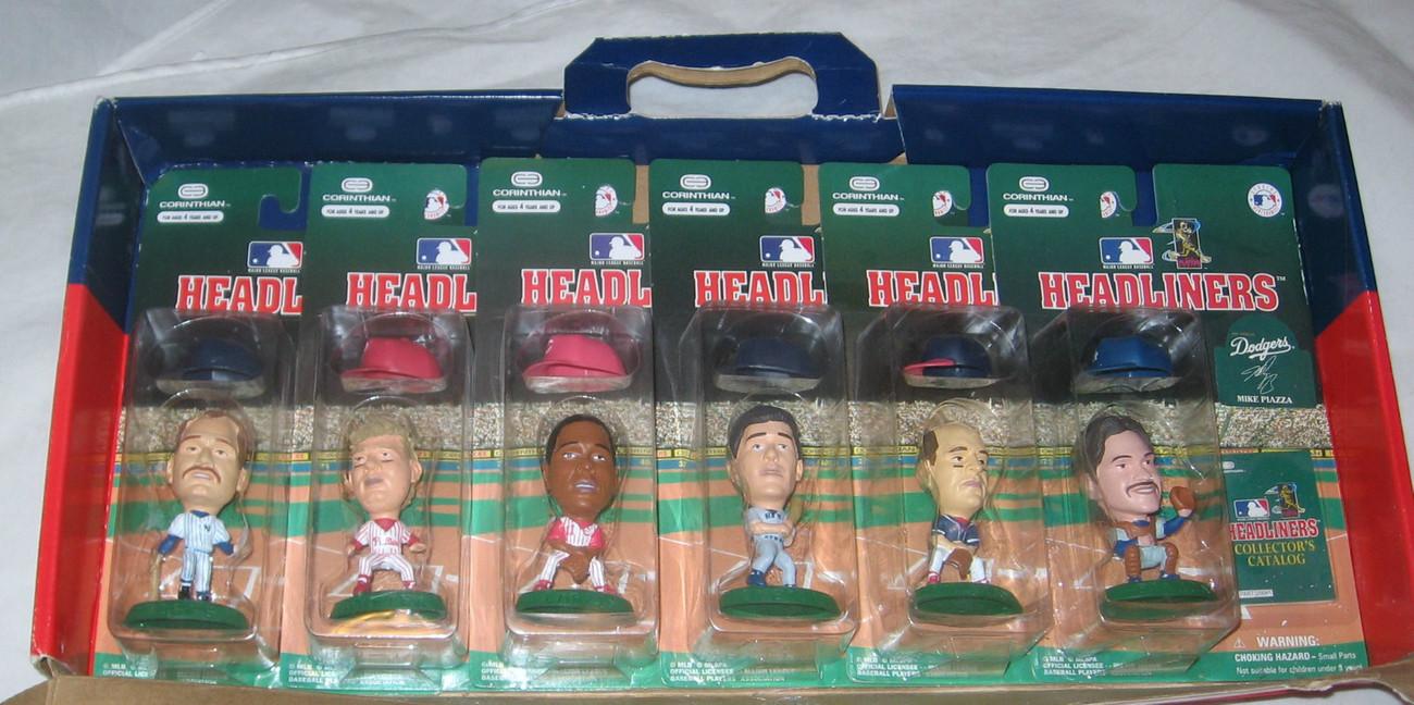 MLB 6 PACK HEADLINERS FIGURES,PIAZZA, WILLIAMS, O'NEILL, LARKIN, DYKSTRA, BOGGS
