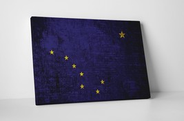 Vintage Alaska State Flag Gallery Wrapped Canvas Wall Art - $44.50+