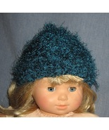 Newborn, Preemie or Doll - Fuzzy Aqua Hat 12 in... - $5.00