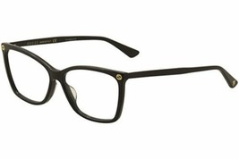 Authentic Gucci Eyeglasses GG00250 001 Black Frames Rx-ABLE 56MM - $133.64