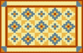 Latch Hook Rug Pattern Chart: Trading Post Quilt - EMAIL2u - $5.75