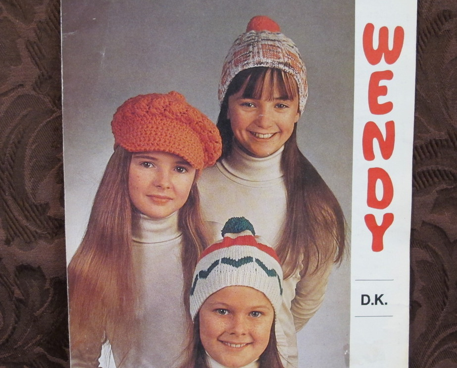 DOUBLE Knitting Pattern CHILDRENS CAPS TOQUES Plus CROCHET DESIGN - $4.95