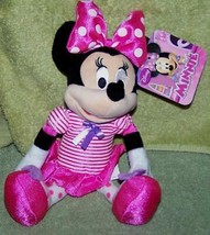 """Disney Jr Minnie Mouse in Pink 10"""" Plush NWT - $9.41"""