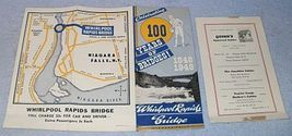Vintage 1948 Niagara Falls Whirlpool Rapids Bridge Map  - $9.95