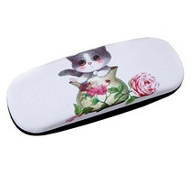 Glasses Case Hard Protective Clam Shell Glasses Box Lovely Cat Pattern #6 - $17.76