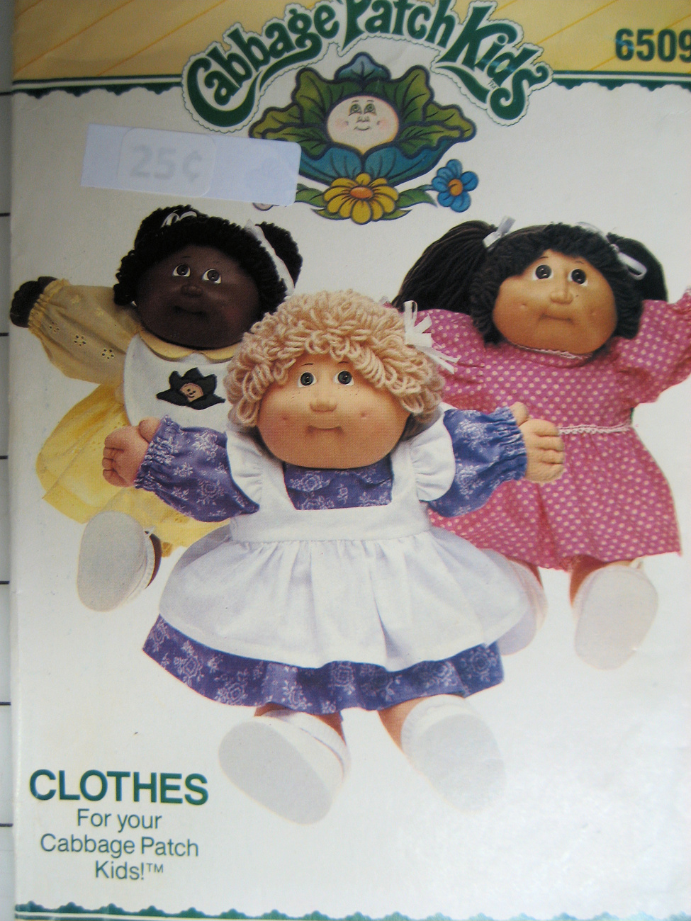 Vintage Craft Pattern Cabbage Patch Doll Butterick 6509