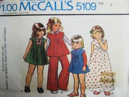 Vintage 70s Pattern Girls 4 Smack Dress Pants M5109 - $5.95