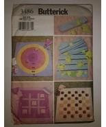 Butterick 3489 Travel Games Checkers Tic-Tac-Toe Leap Frog Bean Bag Toss - $11.64