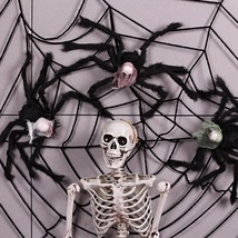 Artificial Black Plastic Skull Spider Horror Funny Toys Halloween Party ... - $26.57