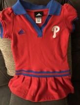 Toddler Girls Philadelphia Phillies Cheerleader  Outfit Dress Small  4T ... - $12.19