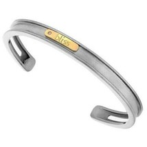 Bliss By Damiani Gold Tytanium With 18K Rose Gold Cuff Bracelet Bangle 6 Inch - $118.79