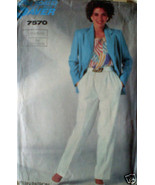 7570 Vintage Simplicity Sewing Pattern Pants Jacket 10 12 14 - $4.83