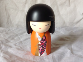 Izumi Spirit and Beauty Kimmi Maxi Doll Black Hair Orange Clothes Asian Style