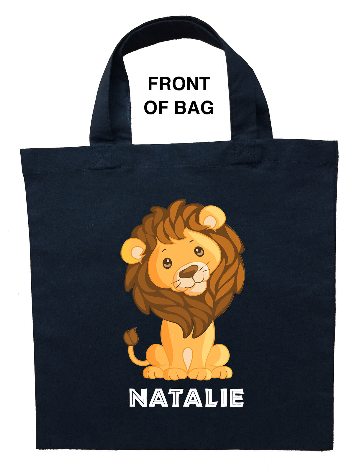 Lion Trick or Treat Bag, Baby Lion Halloween Bag, Lion Loot Bag, Lion Candy Bag