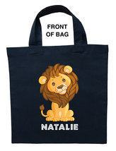 Lion Trick or Treat Bag, Baby Lion Halloween Bag, Lion Loot Bag, Lion Ca... - $11.99+