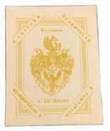 Ex Libris Exlibris Bookplate A. De Sousa A Leitura Desenolve E Fortifica - $29.69