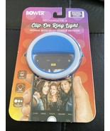 Bower clip on ring light (new) for phone, laptop, or tablet Blue - $10.88