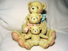 Cherished Teddies Theodore Samantha & Tyler Large 9 Inch 1992 UNB SIGNED - $59.35