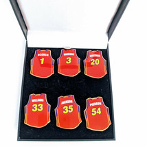 WNBA Phoenix Mercury Set of 6 Women's Basketball Jerseys Lapel Pins - $15.47